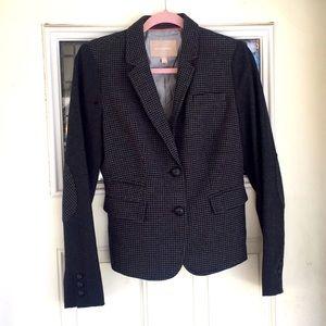 Banana republic houndstooth tweed herringbone coat